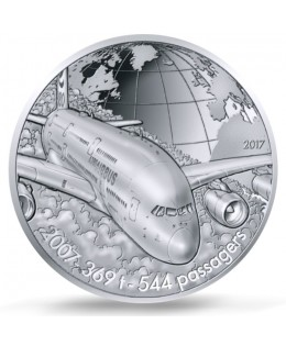 AIRBUS A380 - 50 Euros Argent BE 2017 FRANCE