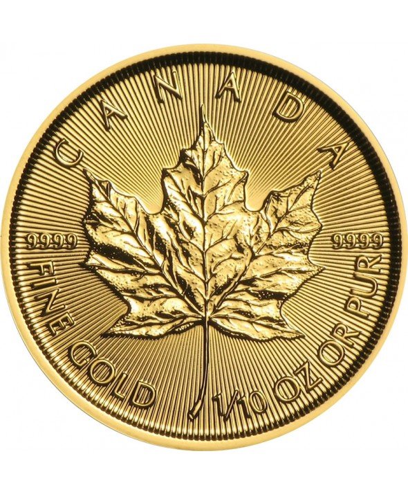 MAPLE LEAF - 1/10 Once Or CANADA 2017