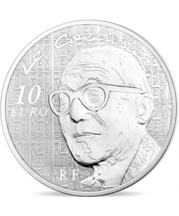 10 Euros Argent BE FRANCE 2015 - Le Corbusier / Architecture (Monnaie de Paris)