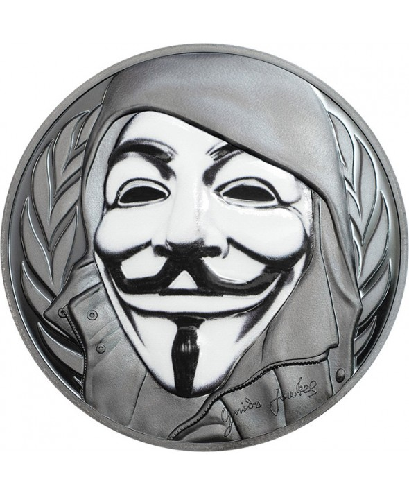 5 Dollars Argent - Masque de Guy Fawkes 2016