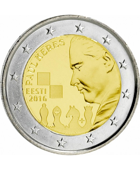 2 Euros Commémo. ESTONIE 2016 - Paul Keres