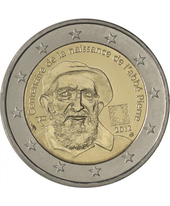 2 euros &quot;100 ans de la naissance de l'Abb Pierre&quot; 2012 - France UNC neuve