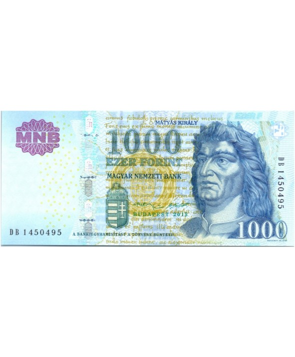 1000 Forint, Roi Matyas Kiraly - Fontaine 2015