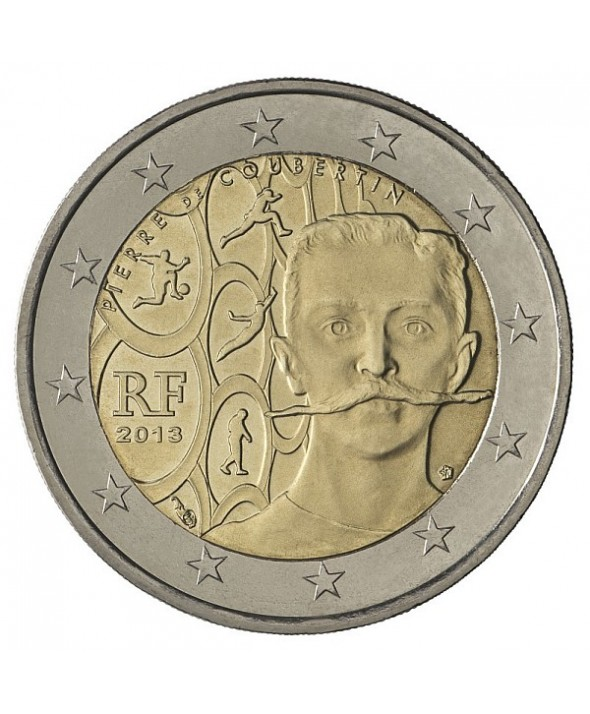 2 Euros Commémo. FRANCE 2013 - Pierre de Coubertin