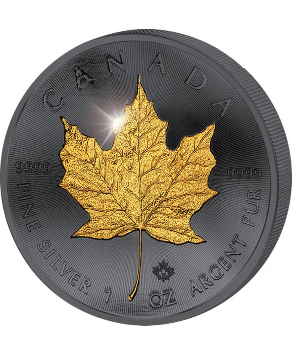 1 Once Argent, Ruthénium et Or CANADA 2015 - Maple Leaf -