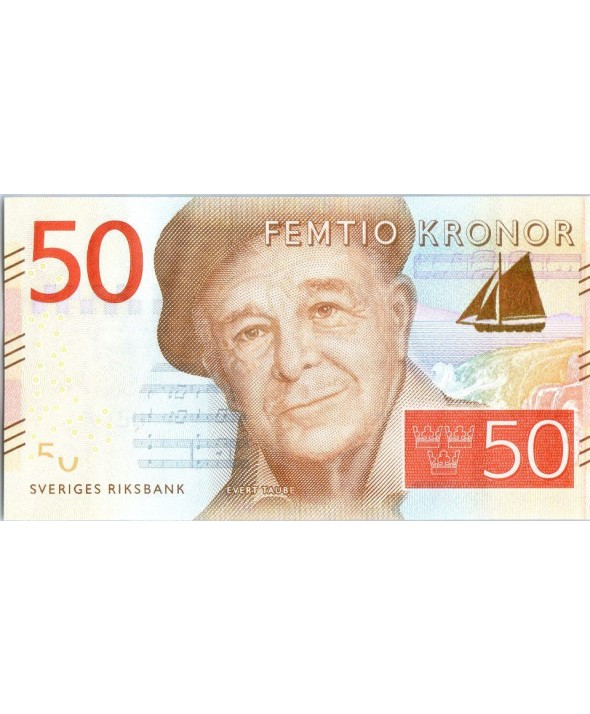 Suède 50 Kronor,  Evert Taupe - Rivage 2015