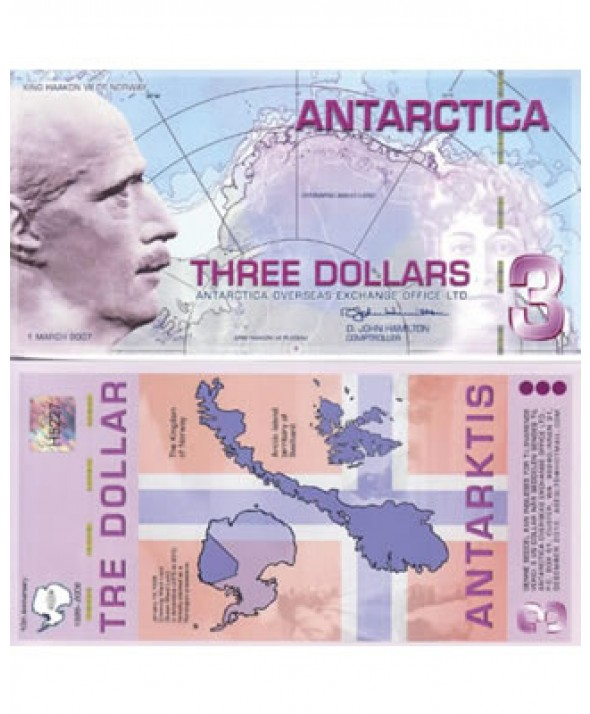 3 Dollars Antarctique 2007