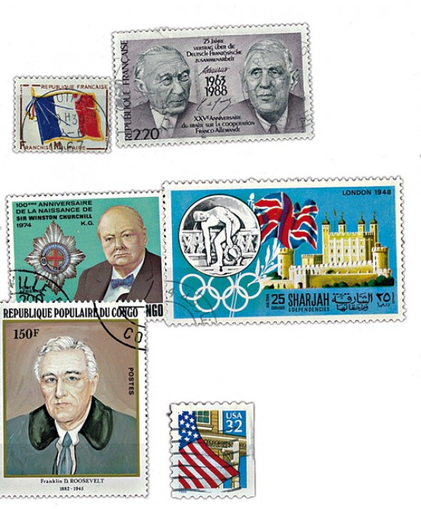 Lot 10 timbres
