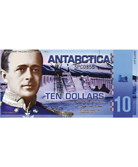 Billet de 10 Dollars 2011 Antarctique