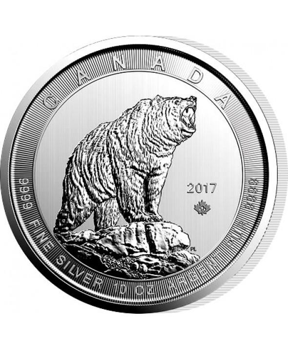 10 Onces Argent CANADA 2017 - Grizzly