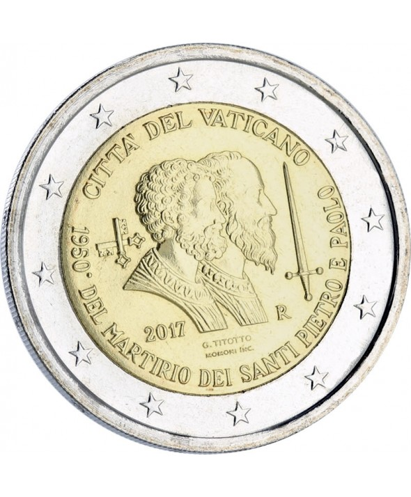 2 Euros Commémo. VATICAN 2017 BU - Saints Pierre et Paul
