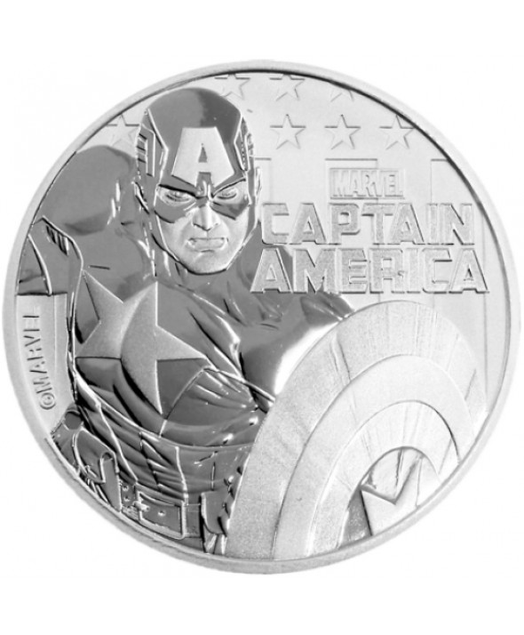 Captain America - 1 Once Argent TUVALU 2019