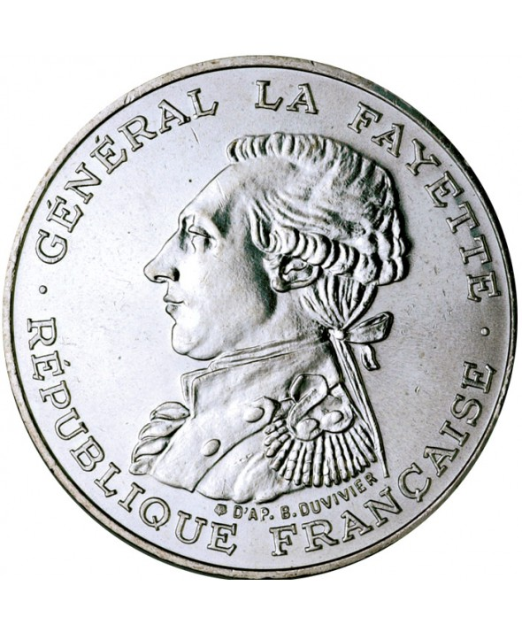 100 Francs Commémo. La Fayette FRANCE 1987 (SUP)