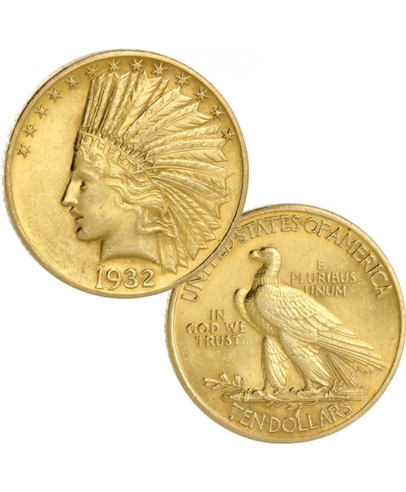 10 dollars Or Eagle Tête d'Indien USA