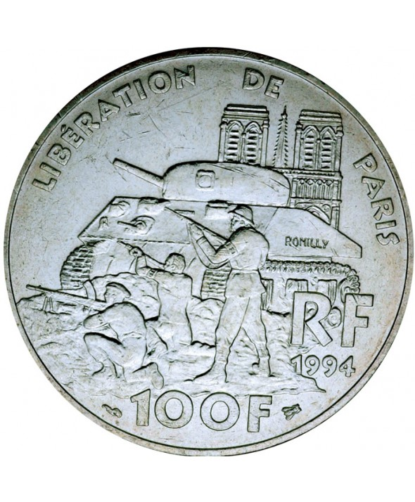 100 Francs Commémo. Libération de Paris FRANCE 1994 (SUP)