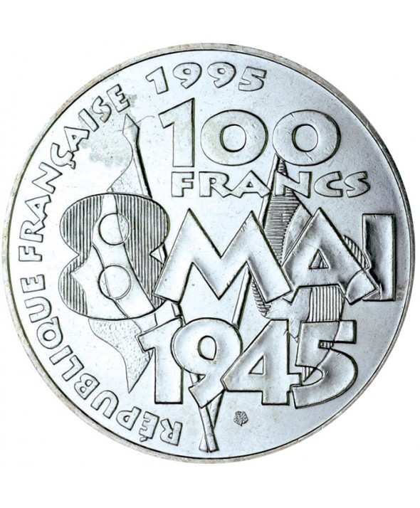 100 Francs Commémo. La Paix (8 mai 1945) FRANCE 1995 (SUP)