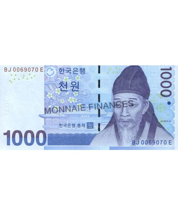 Billet 1000 Won COREE DU SUD
