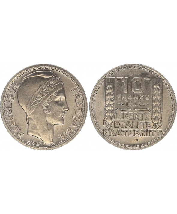 10 Francs, Turin - 1946 rameaux courts
