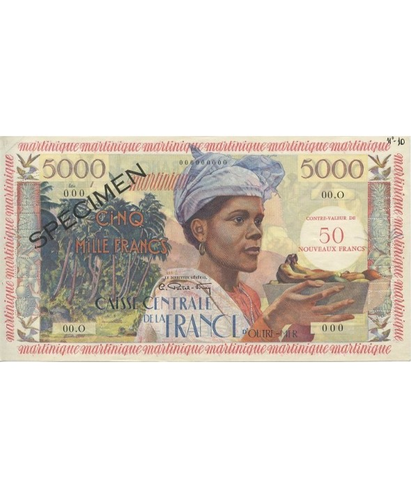 5000 Francs Antillaise