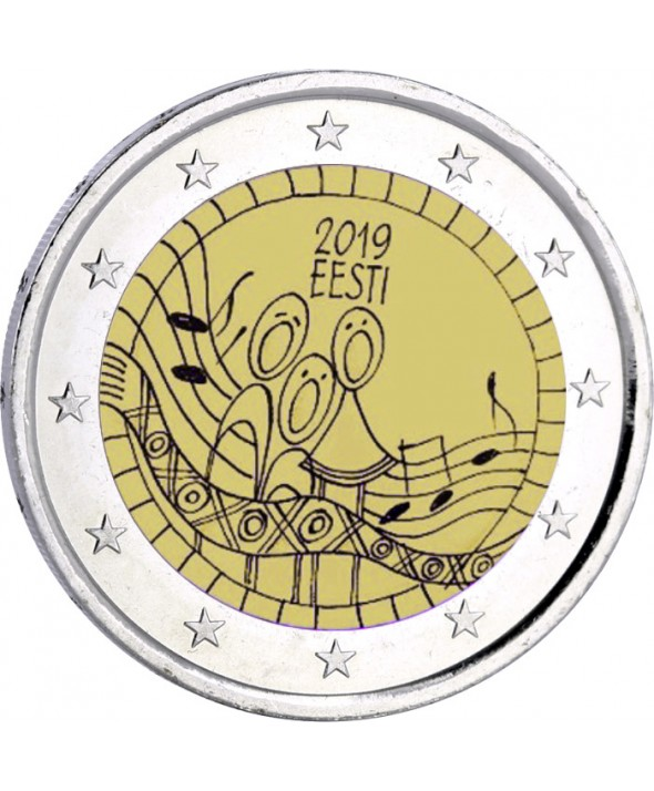 2 Euros Commémo. Estonie 2019 - 150 ans du premier festival de chants estoniens