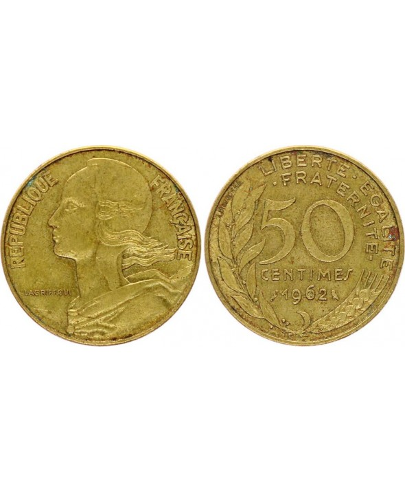 France 50 Centimes Lagriffoul - Marianne - 1962