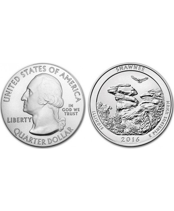 1/4 Dollar, Shawnee National Forest - 2016 P Philadelphie