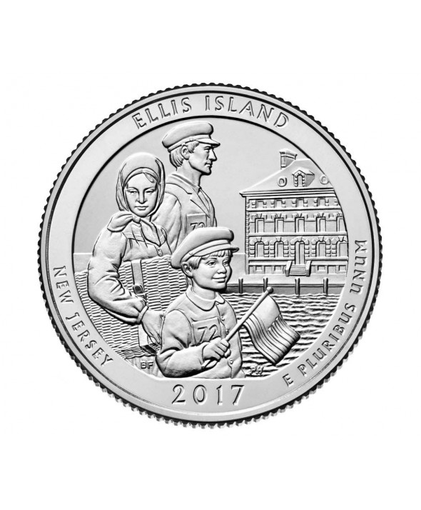 1/4 Dollar USA  Ellis Island - D Denver - 2017