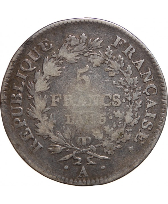 5 FRANCS UNION ET FORCE - L'AN 5 A PARIS