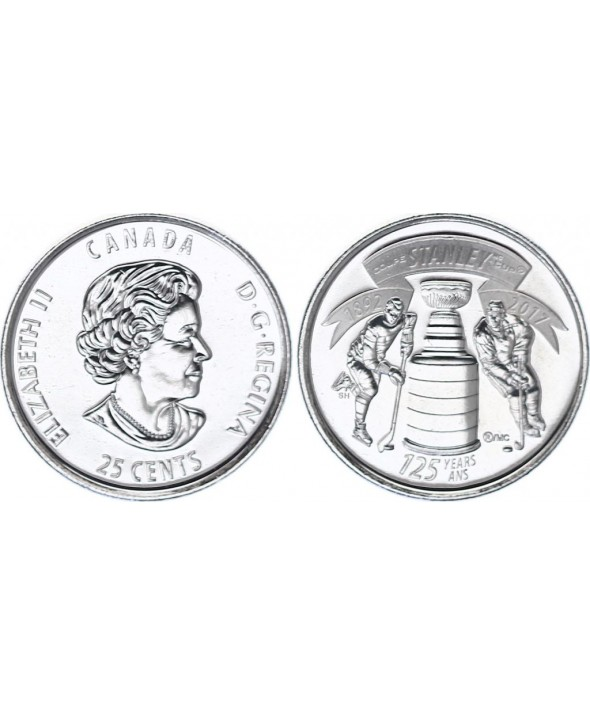 Canada 25 Cents - Stanley cup - 2017