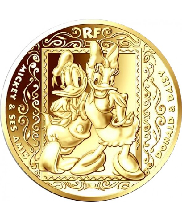MICKEY ET SES AMIS - 50 Euros 1/4Oz Or BE 2018 FRANCE (MDP)