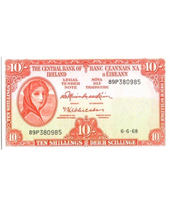 10 Shillings, Lady Lavery (orange)