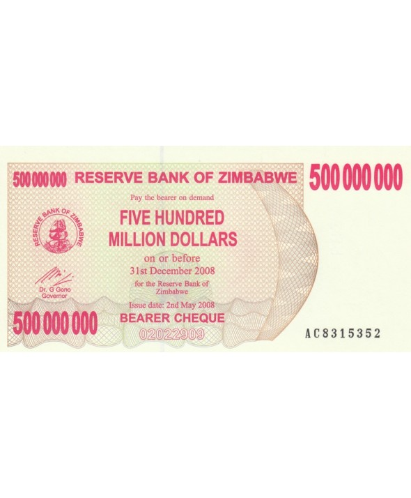 Zimbabwe 500 Million de $, Poisson, barrage - 2008