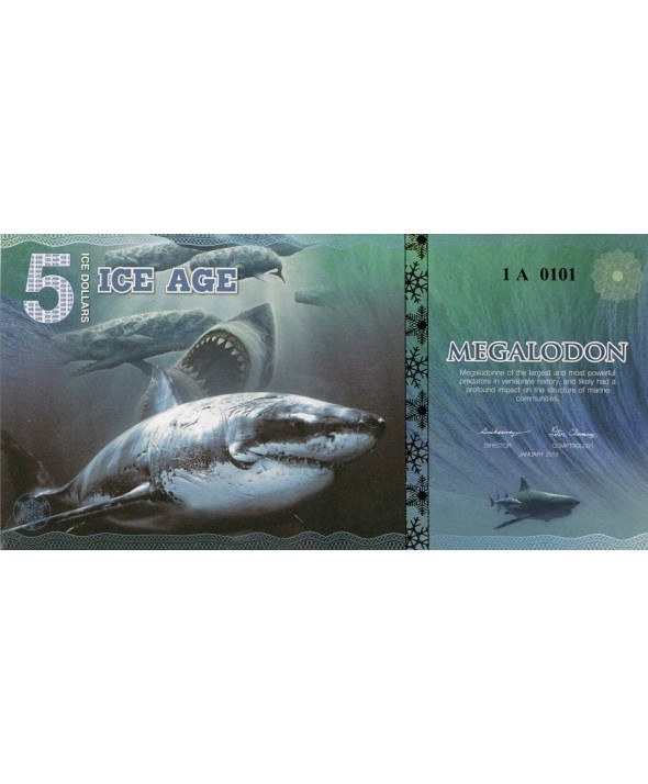 5 Ice Dollars, Requin Geant - Megalodon 2015