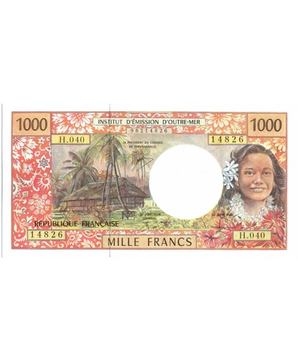 1000 Francs, Tahitienne - Hibiscus - 2008 alph H.40