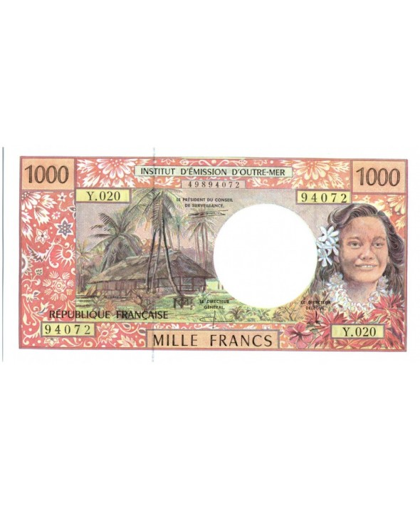 1000 Francs, Tahitienne - Hibiscus - 2000 alph Y.20