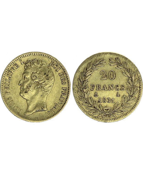 20 Francs Louis-Philippe I 1831 A - Or