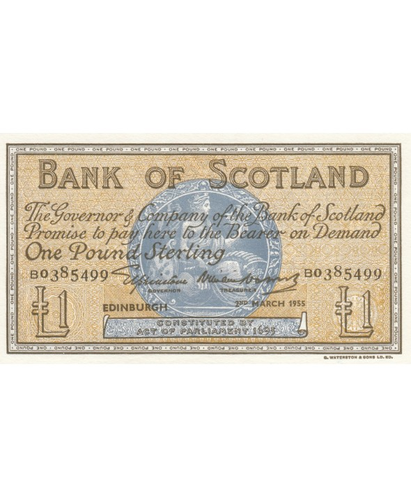 1 Pound Bank of Scotland - 1955 - p.NEUF - P.100a
