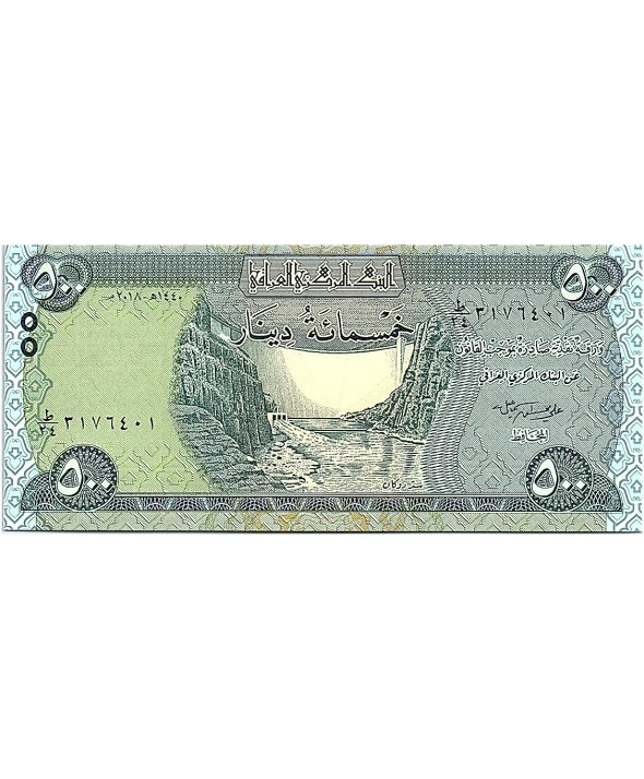 500 Dinars, Barrage  - Statue Winged - 2019 Neuf