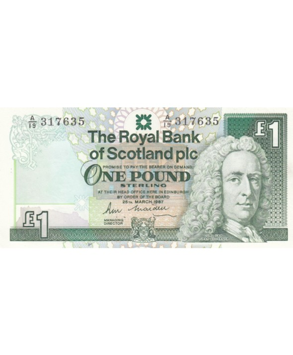1 Pound Royal Bank of Scotland - Château  - 1987 - Neuf - P.346