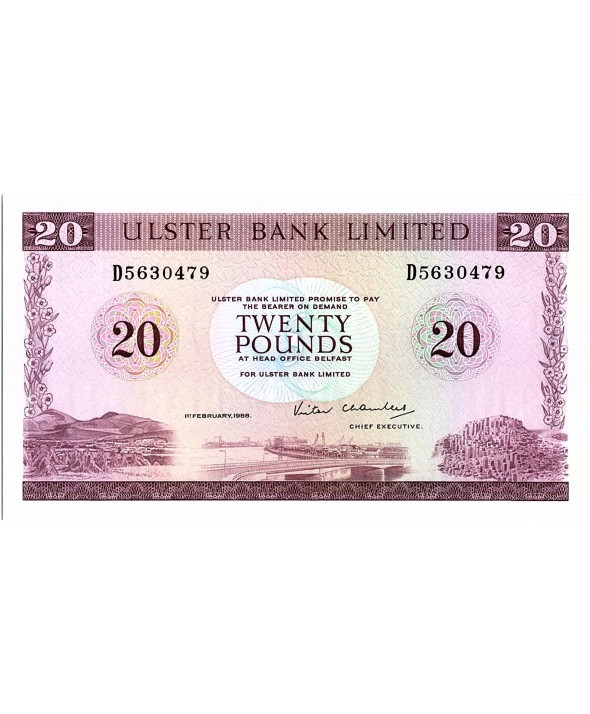 20 Pounds Ulster Bank - 1988 - P.328 c