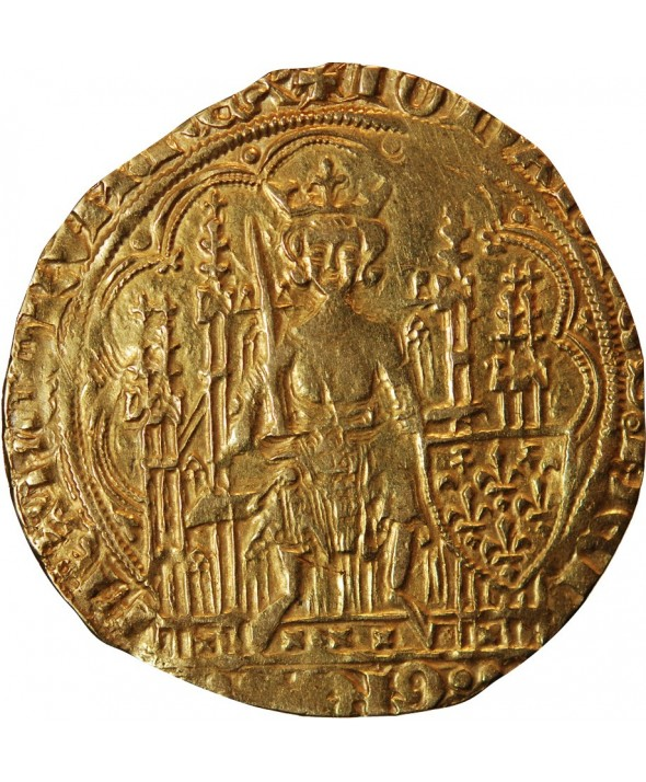 JEAN II LE BON - ECU D'OR A LA CHAISE 1350 / 1364