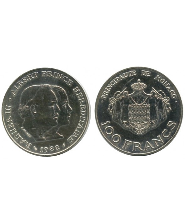 100 Francs Rainier III et Albert - 1982