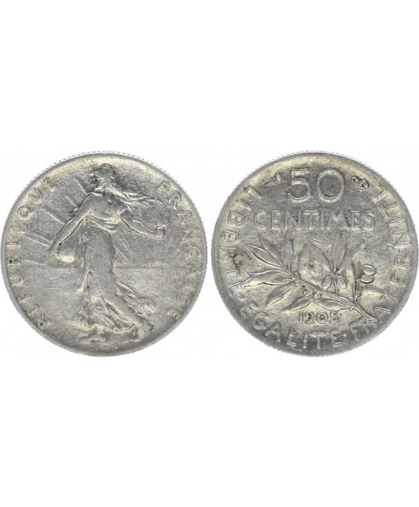 50 Centimes France Semeuse - 1905