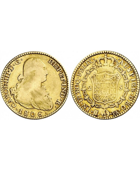 2 Escudos, Charles IV - Armoiries 1806 M Madrid