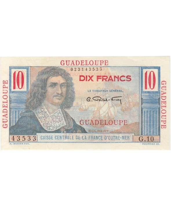 Guadeloupe 10 Francs, Colbert - 1946 Série G.10