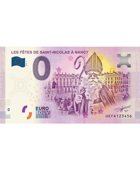 Billet 0 euro Souvenir -  Saint Nicolas Nancy - France 2018