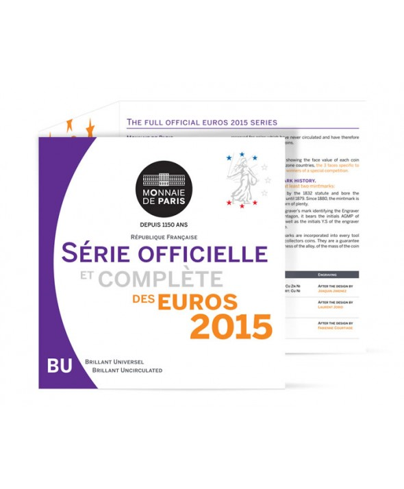 Coffret BU Euro FRANCE 2015 (Monnaie de Paris)
