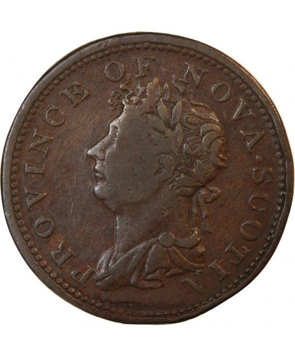CANADA, NOUVELLE-ECOSSE, GEORGES IV - JETON 1/2 PENNY 1823