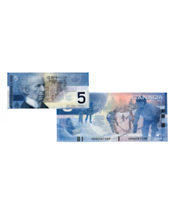 Billet 5 Dollars CANADA - Sir Wilfrid Laurier / Jeux d'hiver