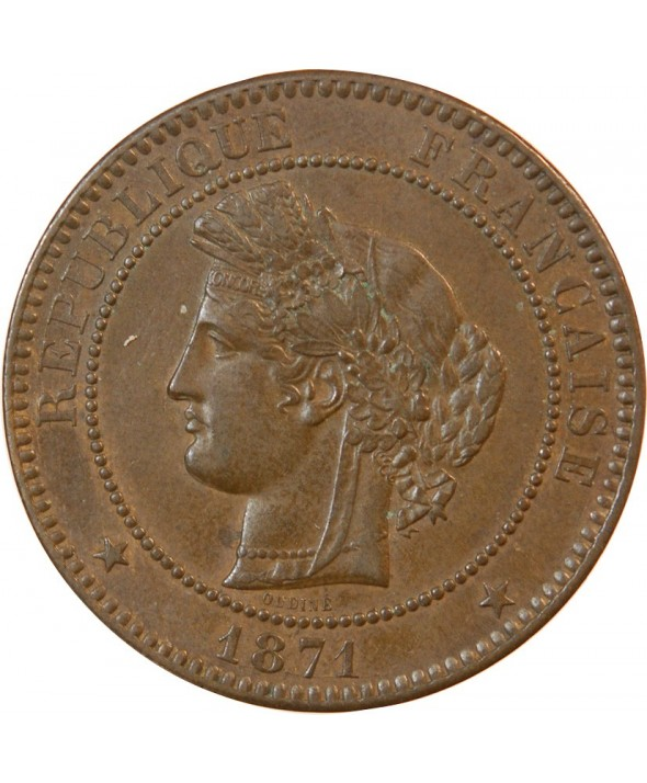 CERES - 10 CENTIMES 1871 A PARIS - Grand A